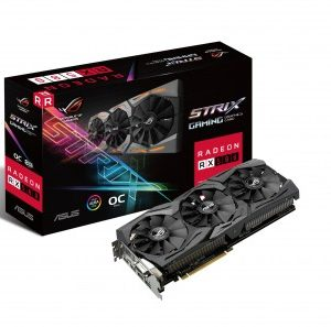 Tarjeta de Video Gaming ASUS ROG-STRIX-RX580-O8G-GAMING